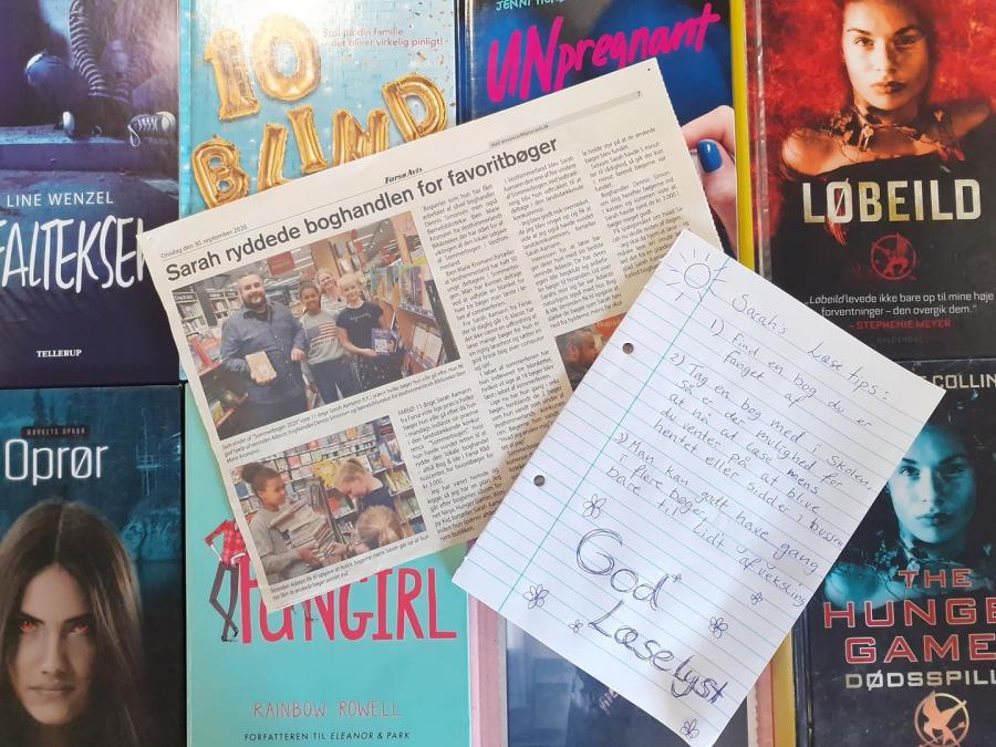 bøger og en avisartikel