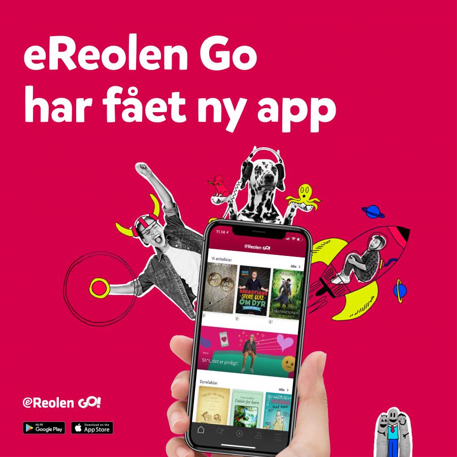 reklame for eReolen Go's nye app anno 2020