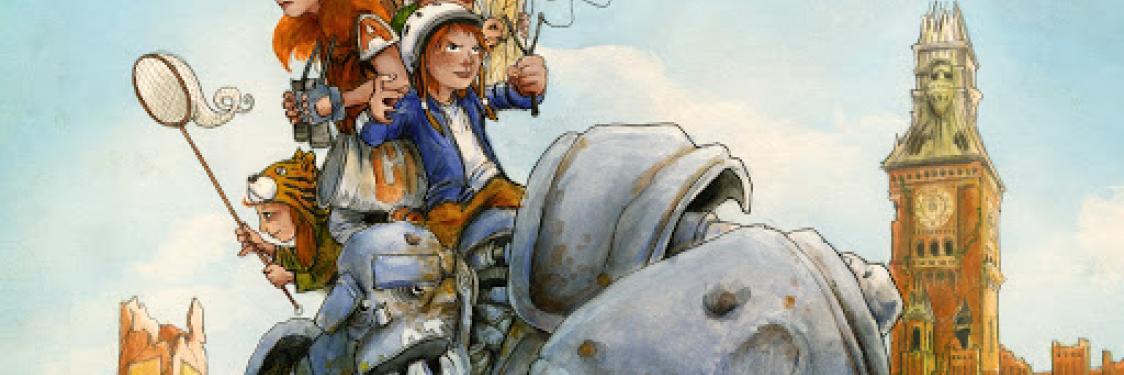 Illustration fra forsiden af Den Rustne Verden 1 af Adam O
